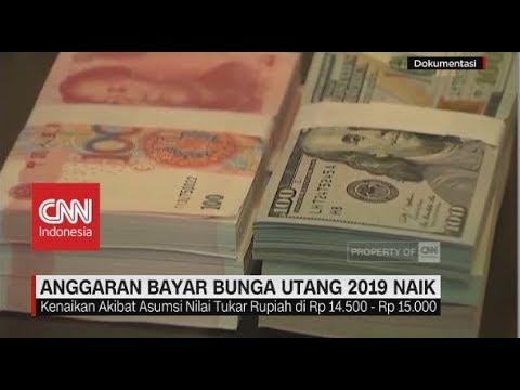 Anggaran Bayar Bunga Utang 2019 Naik