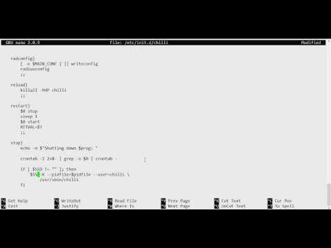 Installing CoovaChilli for Captive Portal