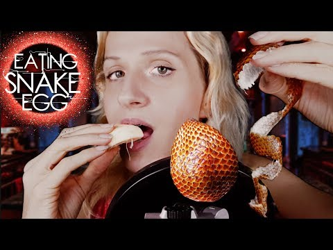 ASMR Eating SNAKE EGGS [Crunchy Chewing] Sounds Ear To Ear
