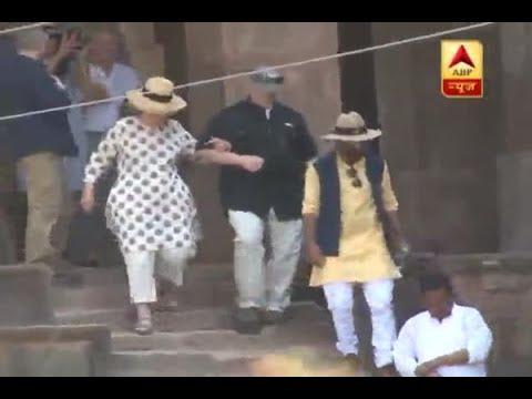 Former US Secretary of State Hillary Clinton start offs her Madhya Pradesh trip