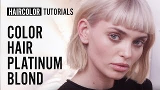 How to do the Platinum Blond haircolor?  by My Sacha | L'Oréal Professionnel tutorials