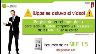 Resumen Niif 15 - Regístrate