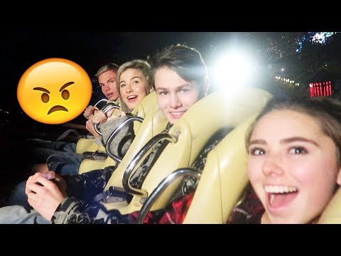 ALMOST KICKED OUT OF THEME PARK FOR VLOGGING...