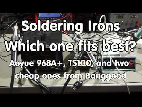 #100 Soldering Irons Comparison and Test: TS100, Aoyue 968, 907, Mustool MT223
