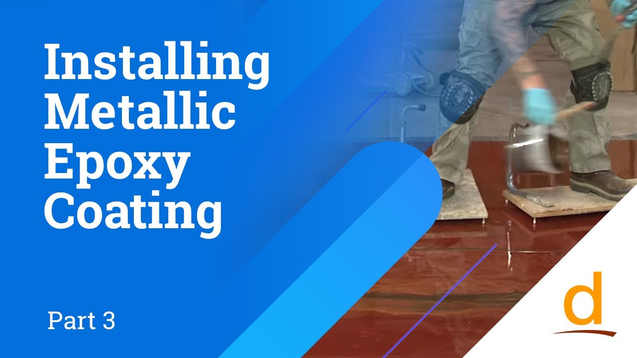 How to install reflective designer epoxy coating - Part 3 - YouTube