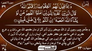 036 Surah Yaseen with Sindhi Audio Translation by Sheikh Mishary Rashid Alafasy HD