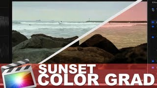 Final cut x color correction - sunset look