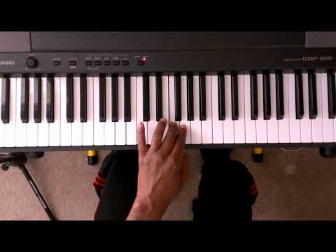 """A"" Minor Scale On Piano Two Octaves - Piano Scale Lessons (Right and Left hand)"