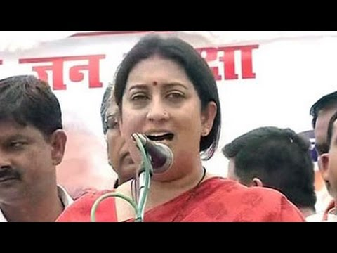 Smriti Irani promises to pay for insurance of 25,000 women in Amethi