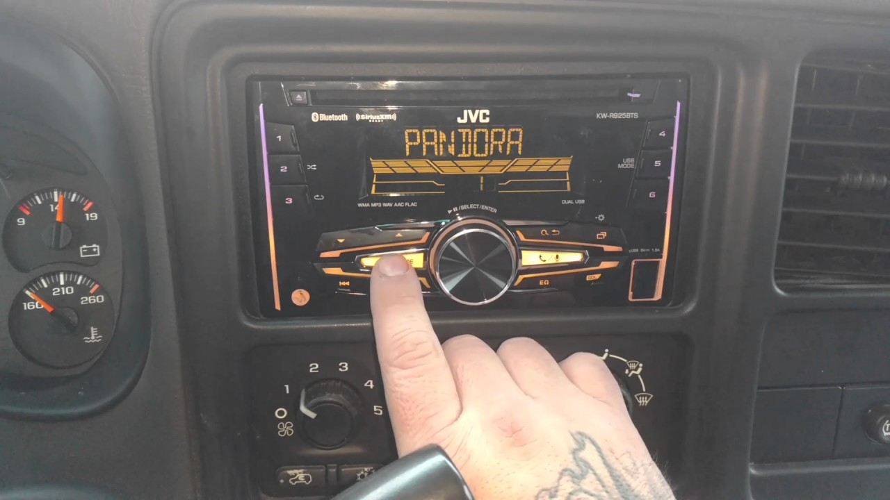 JVC KW-R925BTS installed in 2003 Chevy Avalanche - YouTube on jvc cd, jvc home stereo, jvc car receivers, jvc tv,