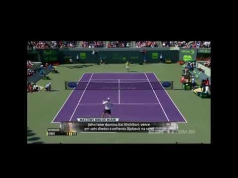 Masters 1000 de Miami: lances de Novak Djokovic 2 x 0 David Ferrer e Ken Nishikori 0 x 2 John Isner