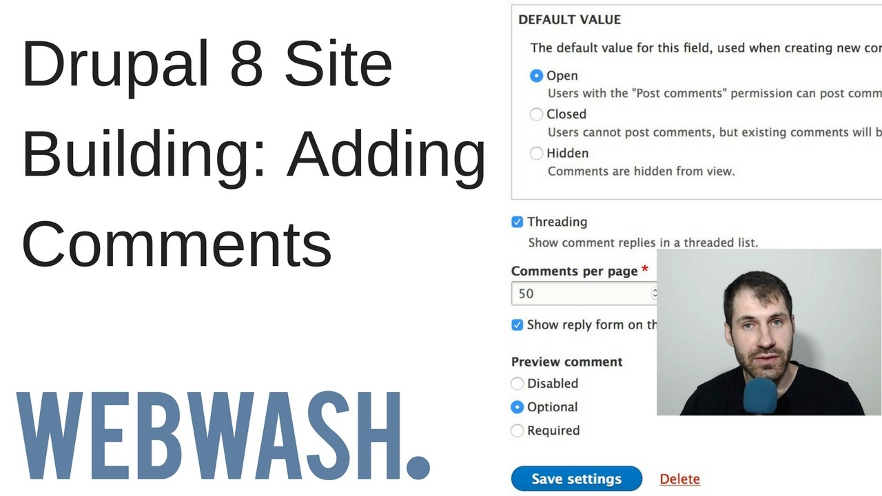 Drupal 8 Site Building: Adding Comments