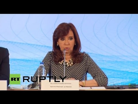 LIVE: Kirchner addresses business leaders in Moscow