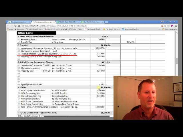 Real Estate Closing Costs Explained Youtube