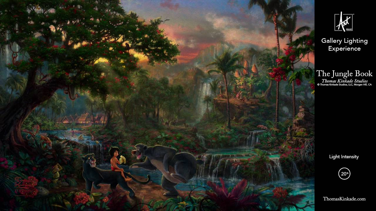 Disney Jungle Book Gallery Lighting Experience