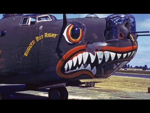 B 24 Liberator Nose Art Color World War II B-2...
