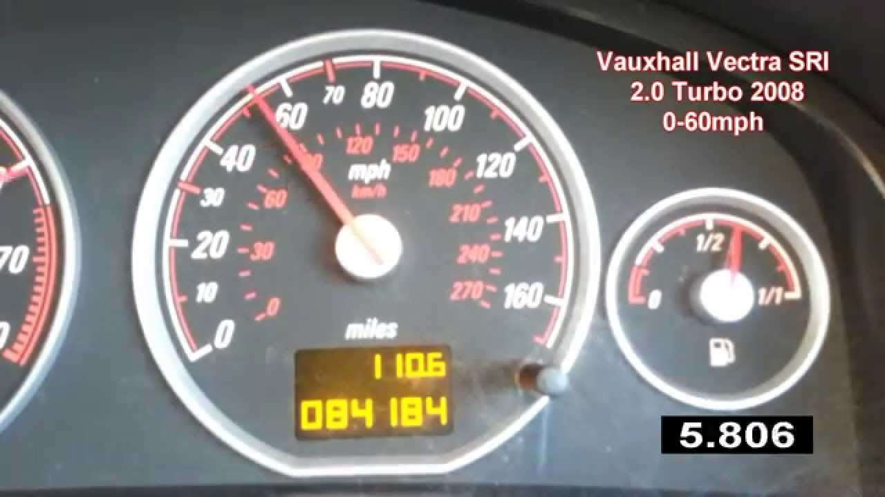 vauxhall vectra 2 0 sri turbo 0 60 mph z20net 0 100 km h acceleration youtube. Black Bedroom Furniture Sets. Home Design Ideas