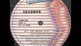 Shannon - Let The Music Play (12'' maxi single)