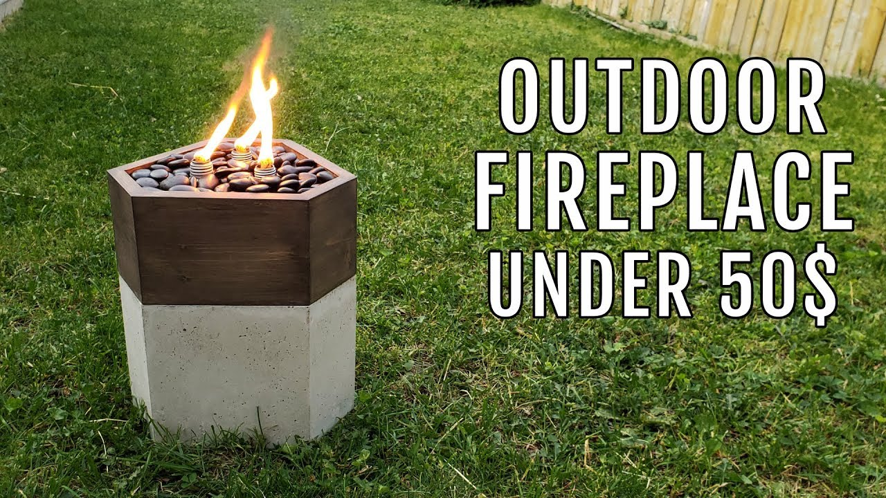 DIY Outdoor Fire Pit Fireplace - Concrete and Wood - YouTube on Diy Outdoor Fire  id=92112