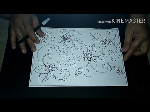 Cara Menggambar Sketsa Motif Batik Sketsa 8 Youtube