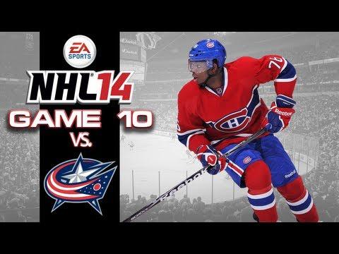 Let's Play NHL 14 - Game 10 vs Columbus Blue Jackets - Short Handed Magic