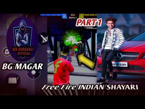 FREE FIRE INDIAN SHAYARI Whatsapp Status 🎧🎶🎤[BG MAGAR]||Free Fire Viral TikTok Video 2021 PART 1💎💓