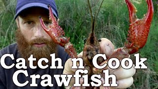 Catch and Cook CRAWFISH! Ep16 | How to Cook and Eat CRAWDADS Survival Challenge!