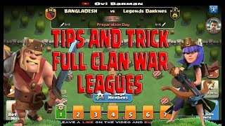 CLASH OF CLANS TIPS AND TRICK FULL CLAN WAR LEAGUES | Ovi Barman | 20181114024120