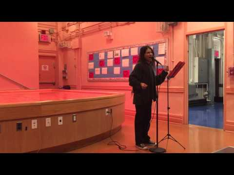 Renoly Santiago sings This Christmas by Donny Hathaway, LES NYC 12.17.15
