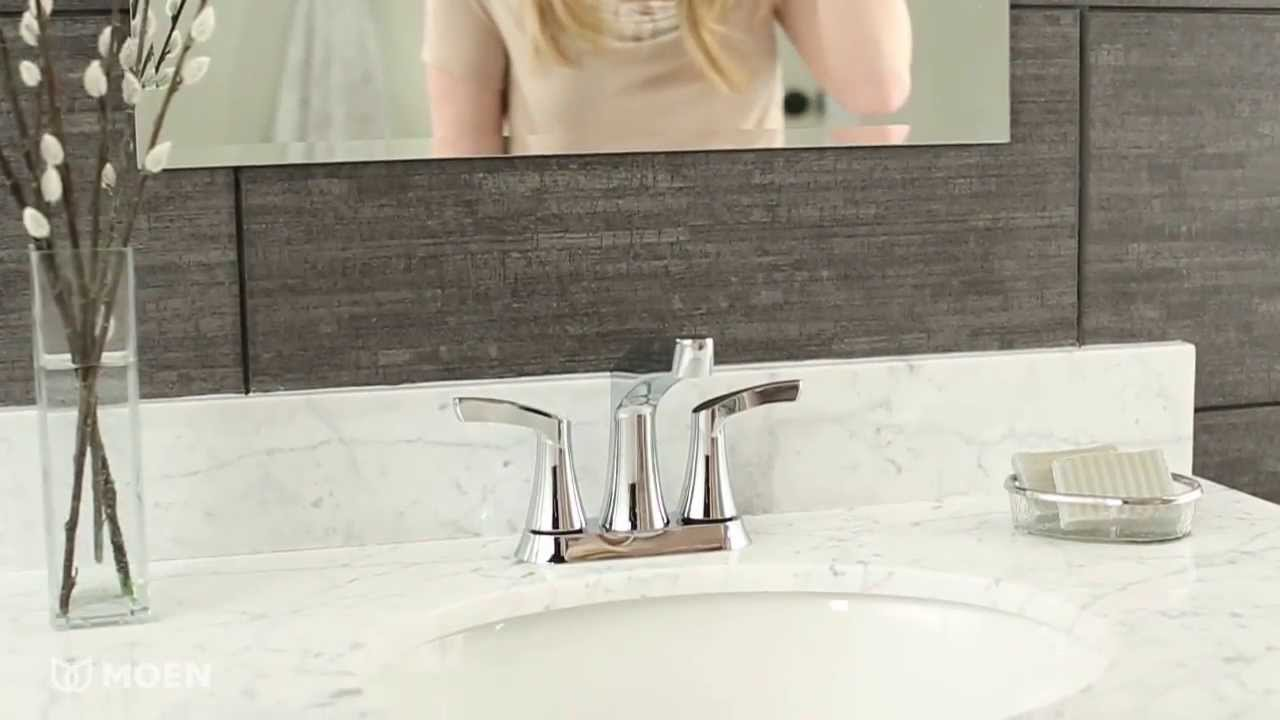 danika 2 handle centerset bathroom sink faucet moen features spotlight