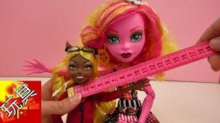Monster High 精灵高中 怪物娃娃 玩偶 对比 比较 Claudine Wolf 和 Gooliope Jellington  玩具组 套装 展示