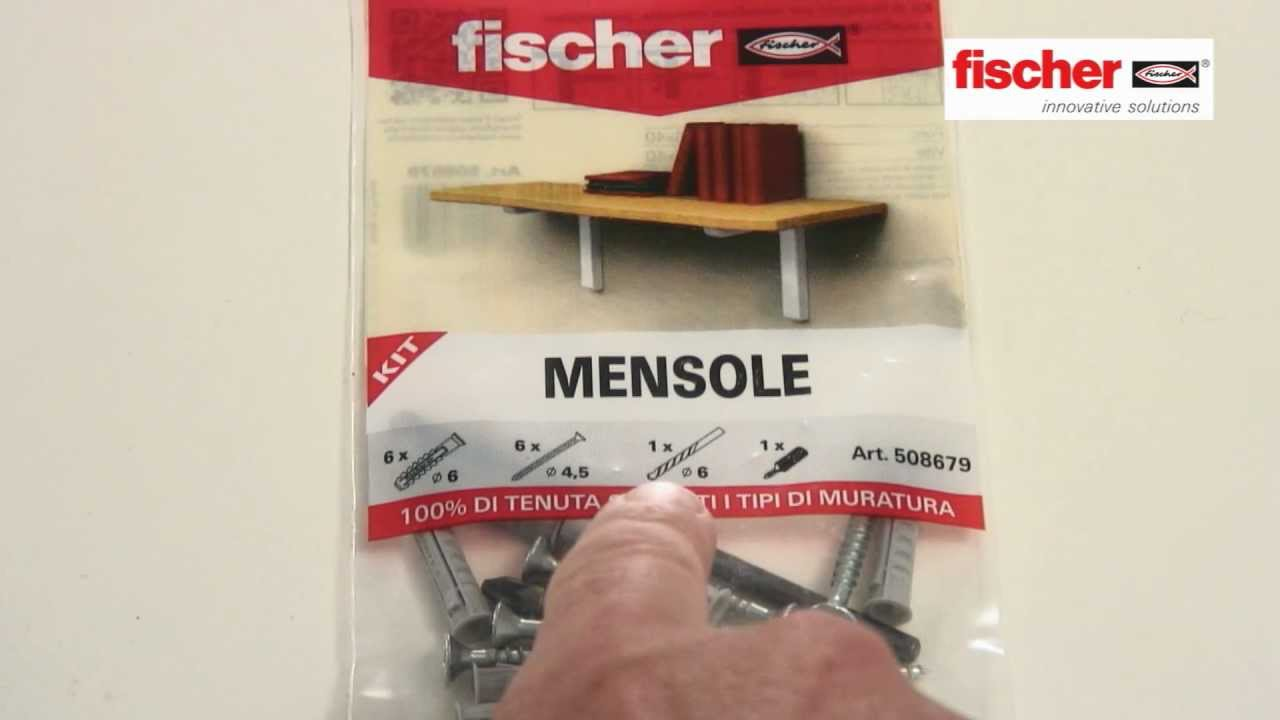 Fissare Mensole Su Cartongesso.Fischer Ready To Fix Kit Di Fissaggio Per Mensole Youtube