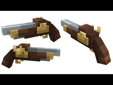 New FLINTLOCK PISTOL Resourcepack [Minecraft 1.14+]