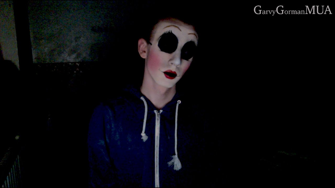dollface mask from the strangers makeup tutorial