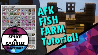 how to build an afk fish farm in minecraft 1 11 2   tutorial