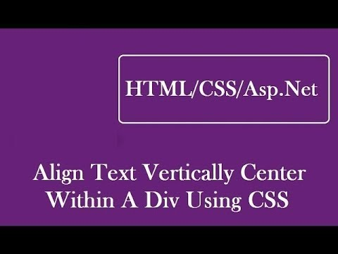 how to align text vertically center in div using css - youtube