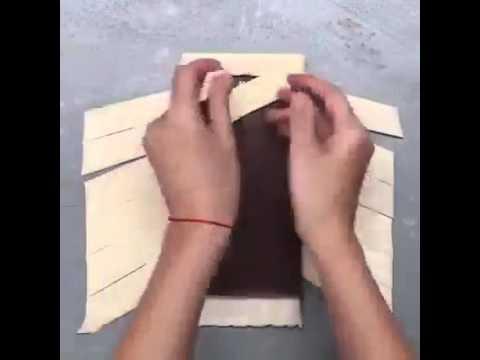 Шоколад в слоеном тесте рецепт с фото пошагово