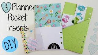 DIY: 3 Easy Pocket Planner Inserts