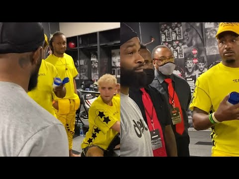 Tyron Woodley altercation with Jake Paul Team at the Fight
