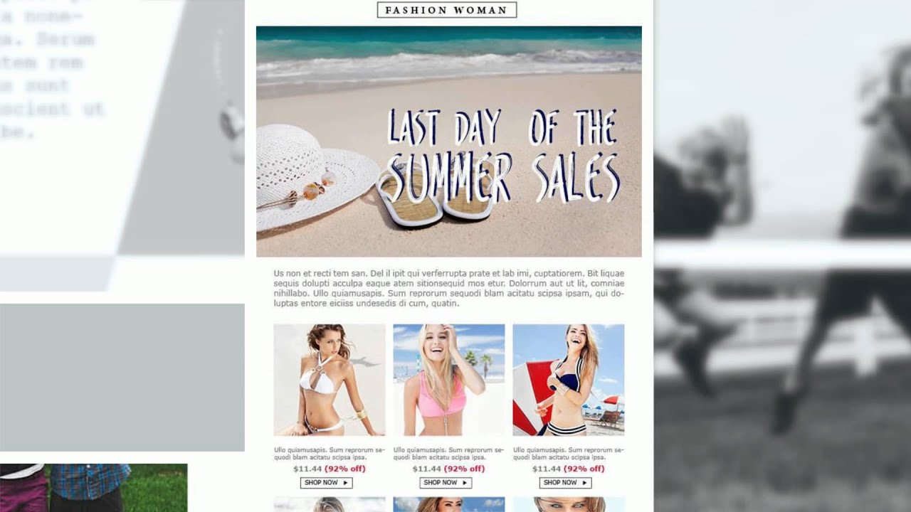 email marketing for clothing stores free email templates - Free Email Marketing Templates