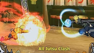 Naruto Ultimate Ninja 3 All Jutsu Clash Compilations 1080p
