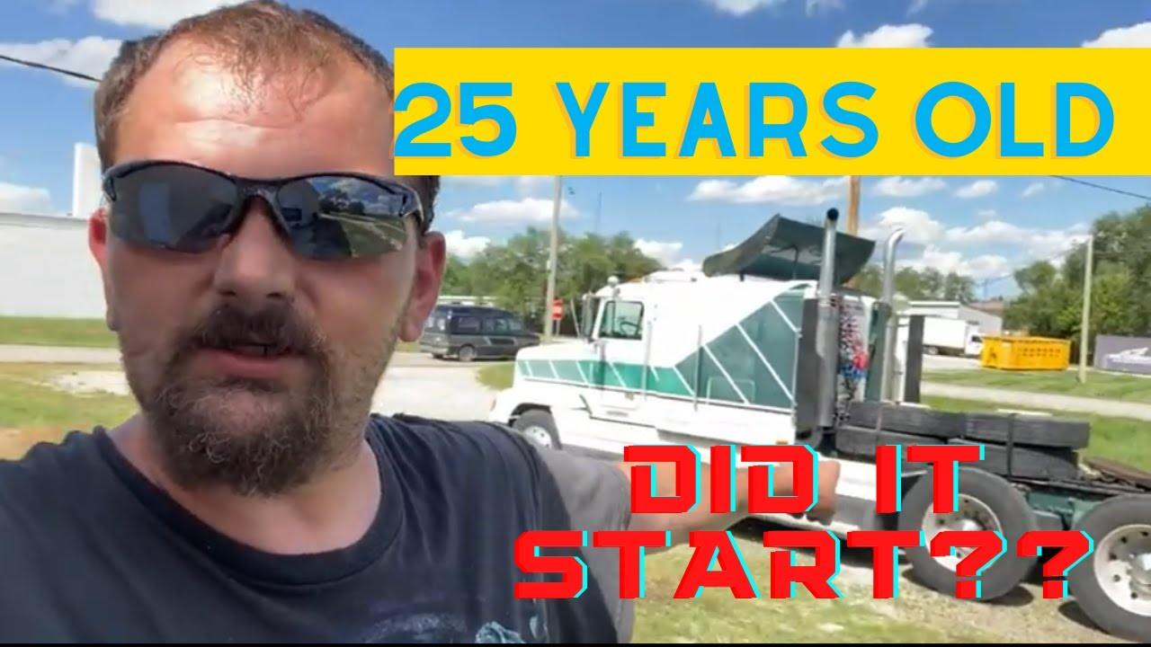 I bought a 24 year old truck!! Freightliner FLD 120 Big Rig, Semi truck, 18 Wheeler