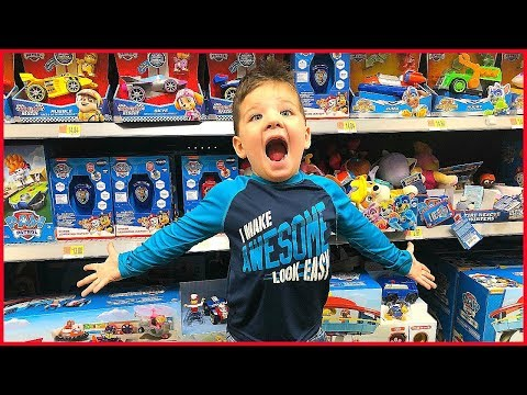 Toy Shopping At Walmart Paw Patrol Toys, Frozen Toys, Monster Truck Toys! Playing With Toys At Store