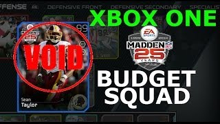 #MUT25 | Xbox One | Budget Squad Update | Sean Taylor Out & Issues Addressed