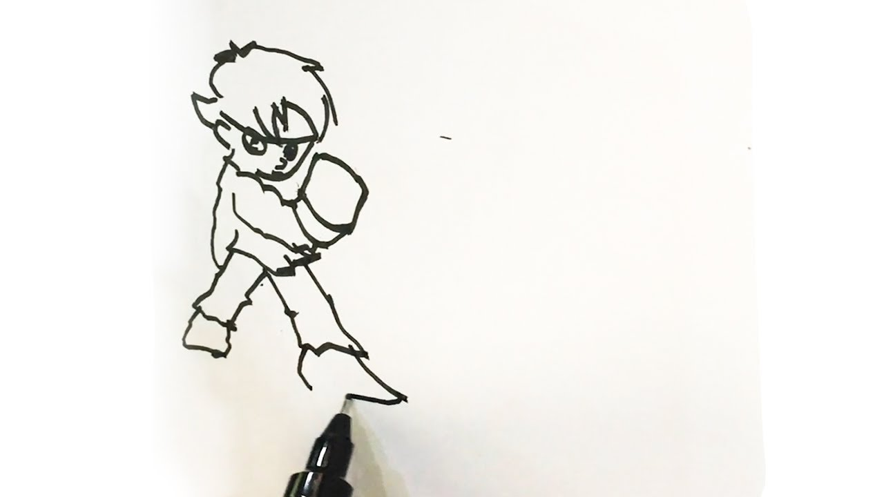 How to Draw Ryu Game Character