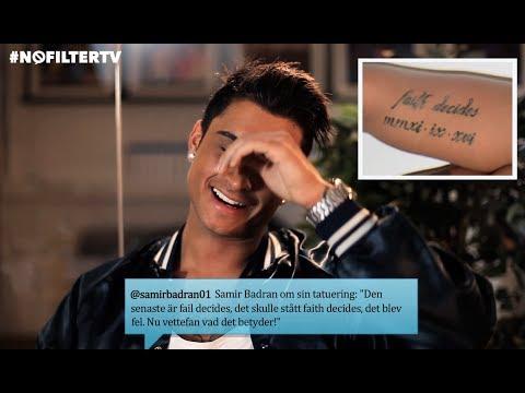 #nofiltertv - Paradise Hotel-Samir stavade fel - på sin tatuering