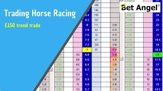 Peter Webb, Bet Angel - Betfair trading on Racing - £150 trend trade