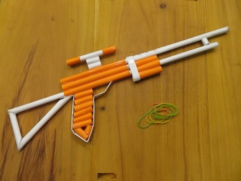 How to make a Paper Gun that shoots 3 rubber bands - GTa Weapon
