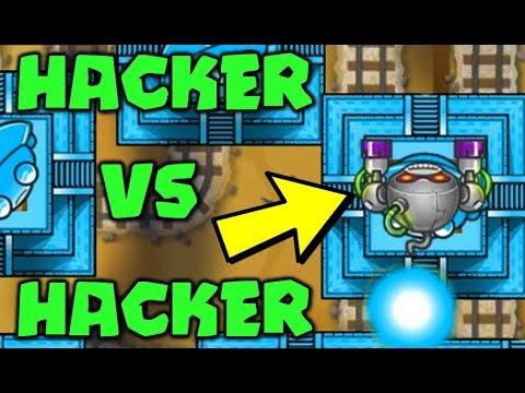 HACKER VS HACKER :: 400,000 LIVES LATEGAME! Banana Farm LIVES HACK! -  Bloons TD Battles