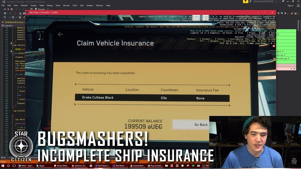 star citizen how to get insurance